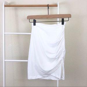 NWT w/ Flaw Tiger Mist Ruched Layered Mini Skirt